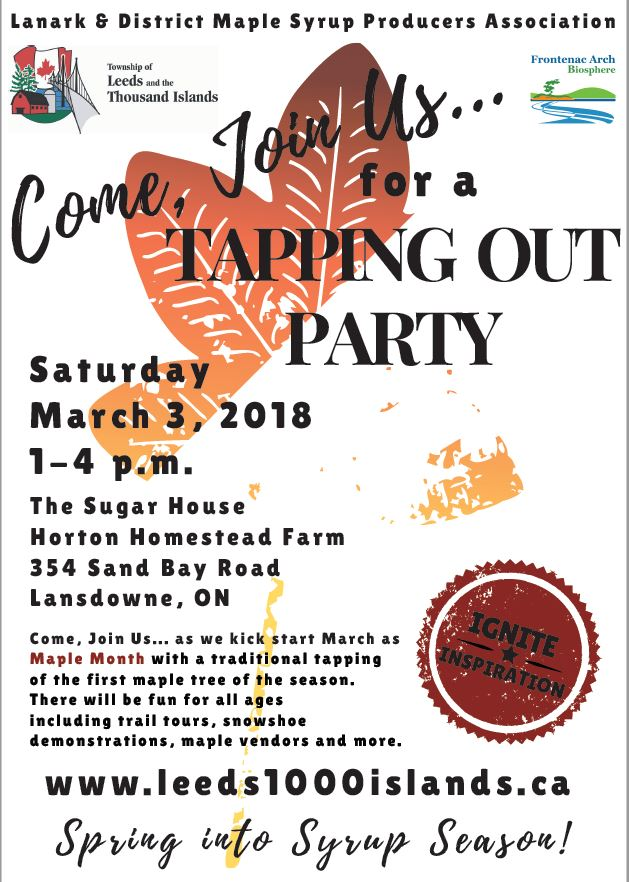 March is Maple Month – Tapping Out Party