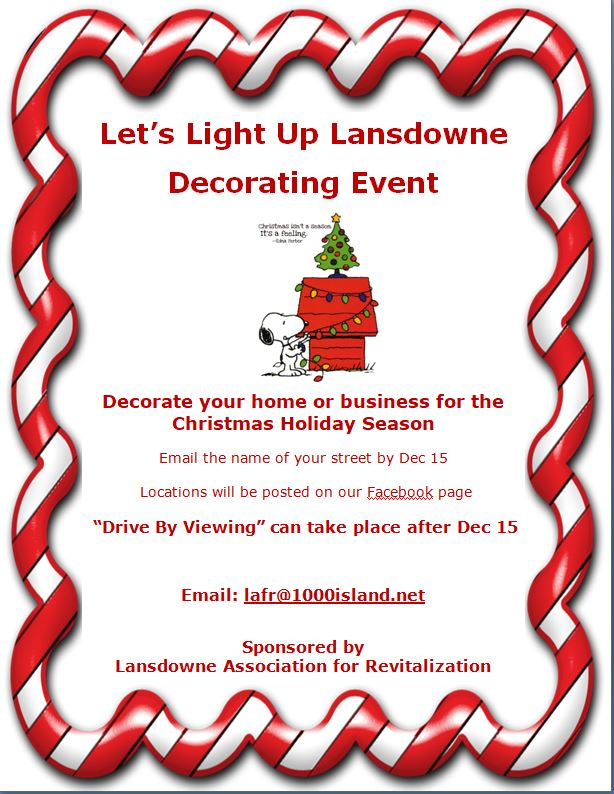 Let's Light Up Lansdowne 2020, Like Never Before!
