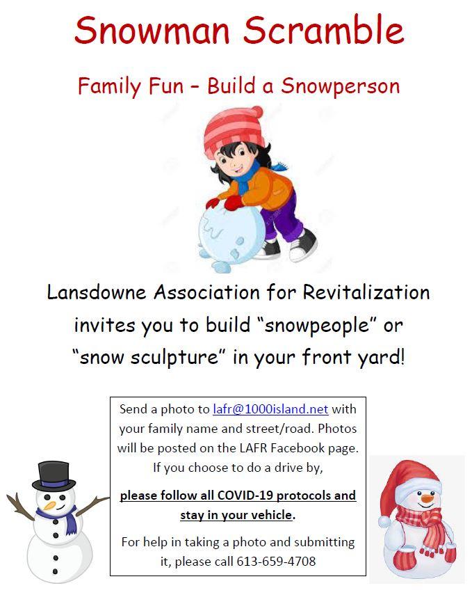 Lansdowne Snowman Scramble – 2021