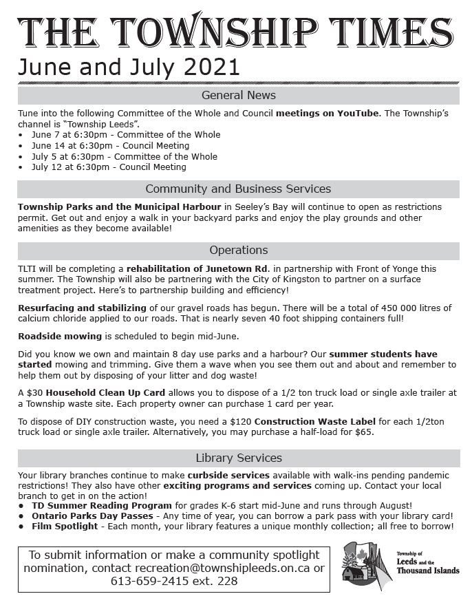 Township Times June-July 2021