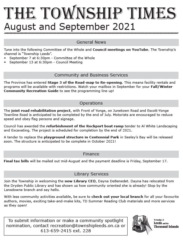 Township Times August/September 2021