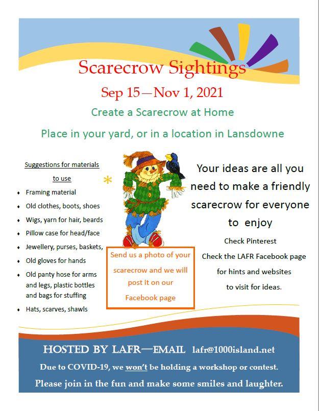 Scarecrow Sightings in Lansdowne – Sep 15 – Nov 1, 2021